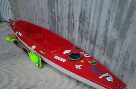 Kayak biposto uso mare