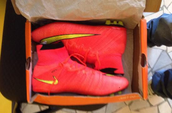 Scarpe nike mercurial superfly ag rosso giallo