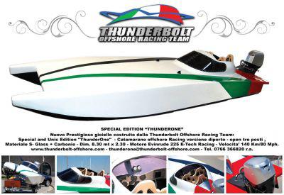 Special edition thunderone- catamarano offshore racing