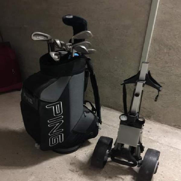 Set da golf con sacca e carrello
