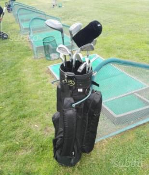 Set da golf ferri e legni, mazze da golf con sacca