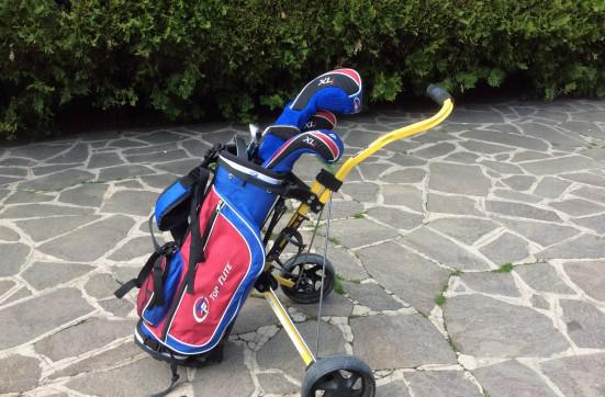Set mazze da golf bambini 7/9 anni top flite con carrello