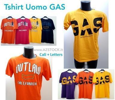Stock T-Shirt Uomo Gas (Cali+Letters) Giugliano in Campania
