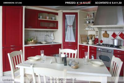 Svendita cucina in legno classica mod. asolo da arredamenti