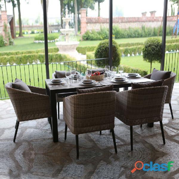 Set tavolo giardino nuovo art. 6448960000 consegna gratuita arredamentishop.it