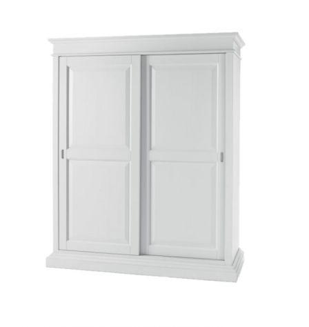 Armadio in stile bianco laccato 2 ante scorrevoli cod 13000