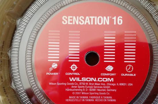 Corde tennis bobina wilson sensation 1,30 mm