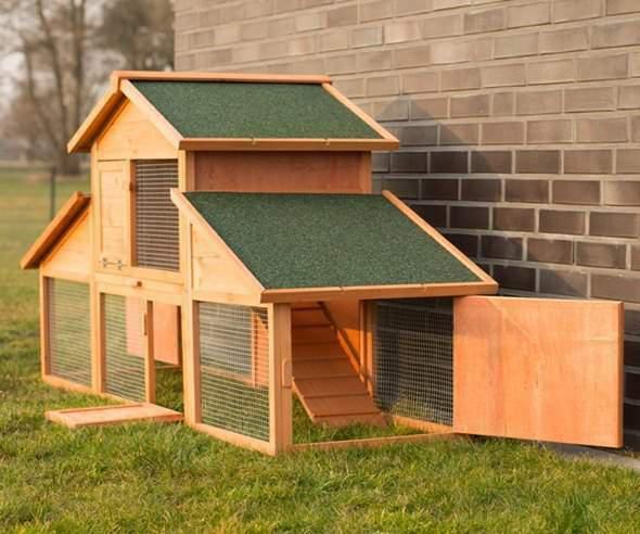 Conigliera in legno esterno gabbia per conigli nani ariete