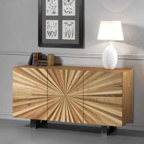 Credenza in legno 3 ante raggio di sole. cod.12054