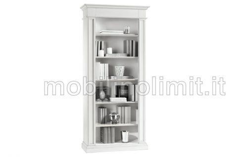 Libreria 5 ripiani - bianco opaco - nuovo