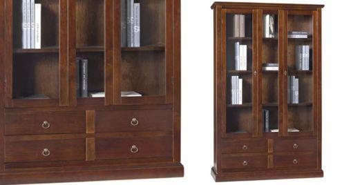 Libreria con ante e cassetti - nuovo