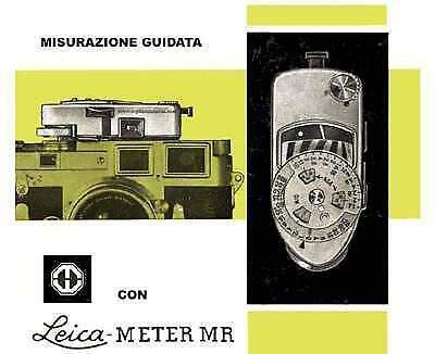 Libretto istruzioni leica mp leica minilux leicameter mc mr