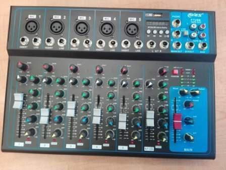 Mixer passivo 7 canali con effetti ed ingresso usb karaoke