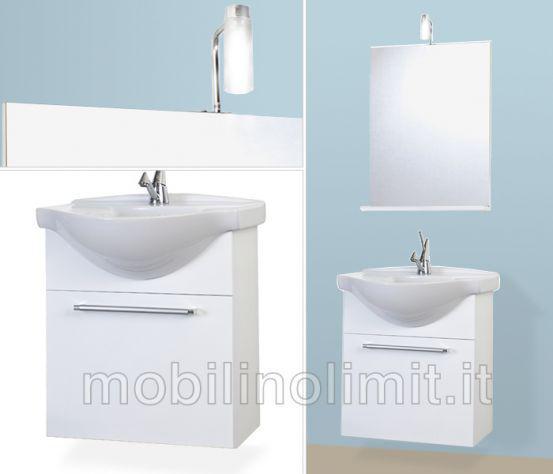 Mobile bagno sospeso - bianco lucido - nuovo