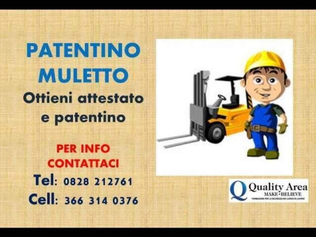 Patentino carrello elevatore (muletto) in tutta italia
