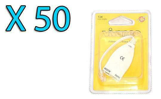 Stock lotto 50 filtri adsl/telefono rj11 vivanco