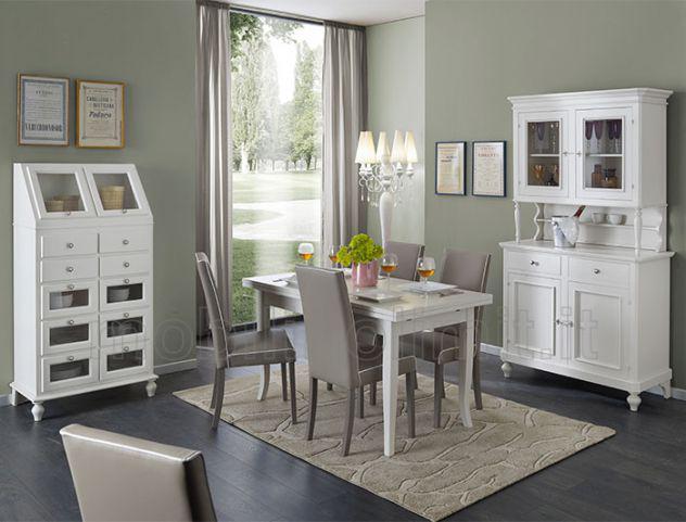 Sala da pranzo con dispensa - bianco opaco - nuovo