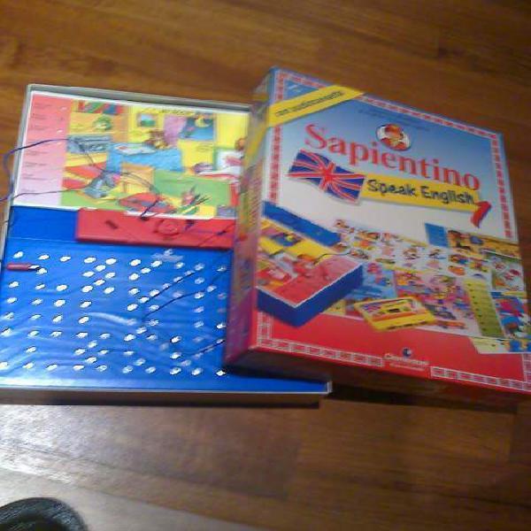Sapientino impara inglese giocattolo divertente con schede