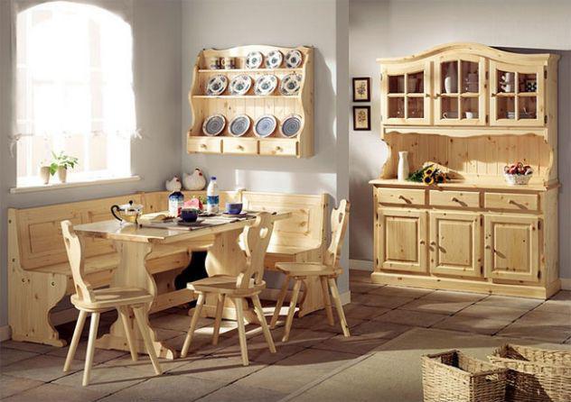 Soggiorni rustici taverne nuovi completi in legno