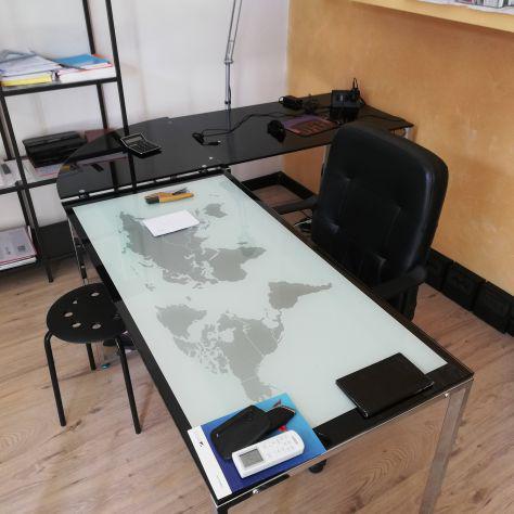 Vendo ufficio completo serie vetro serigrafato