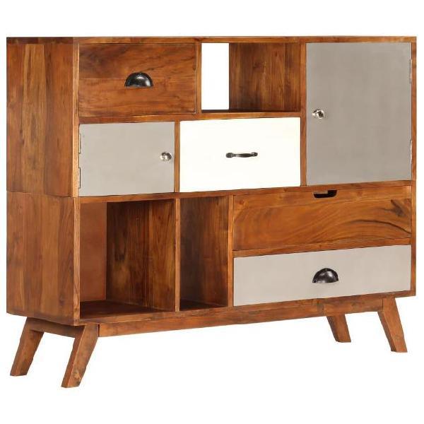 Vidaxl credenza 115x35x86 cm legno massello di acacia