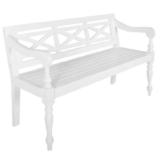 Vidaxl panchina batavia 136 cm legno massello di mogano