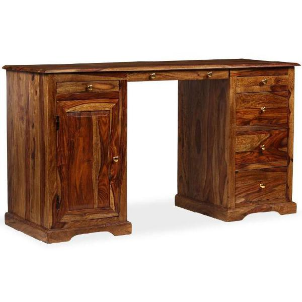 Vidaxl scrivania a colonna in legno massello di sheesham