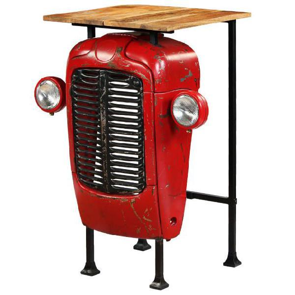 vidaXL Tavolino da Bar Trattore in Mango Massello 60x60x107