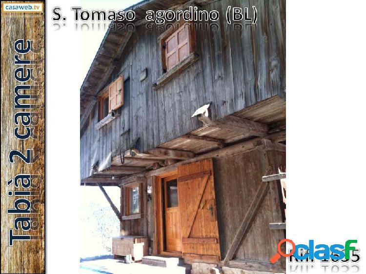 Chalet 2 camere a s. tomaso agordino (bl)