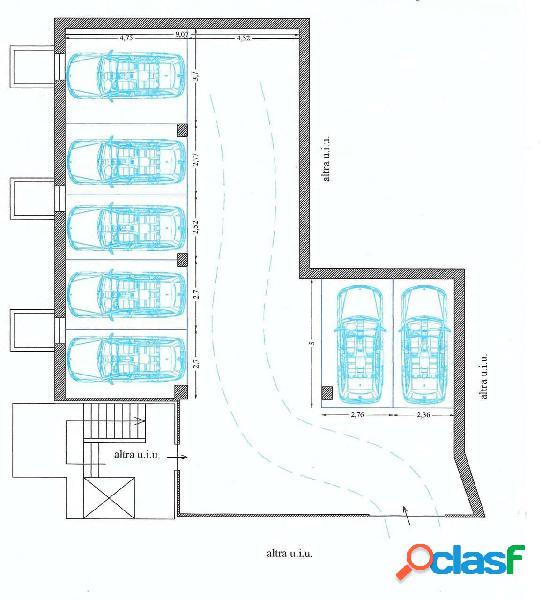 Deposito magazzino per posti auto