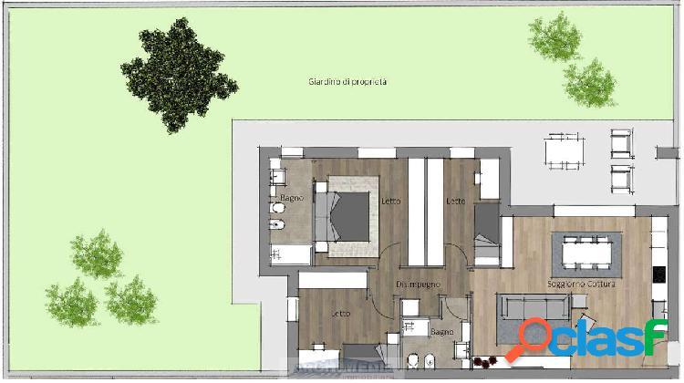 Appartamento con giardino_rubano - rif: w369