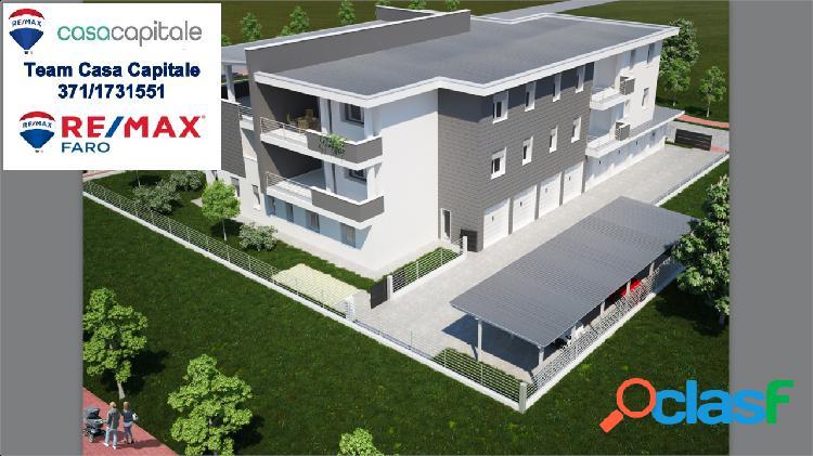 Nuova costruzione, 3 camere, 2 wc e terrazzo.