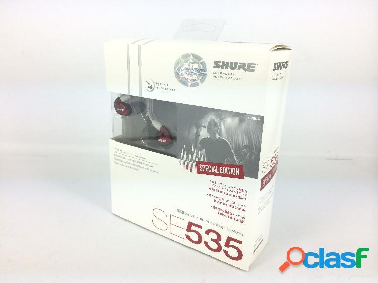 Shure se535 cuffie isolanti - rosso (edizione limitata)