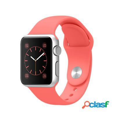 Apple watch sport 38mm alluminio argento con cinturino sportiivo ro...
