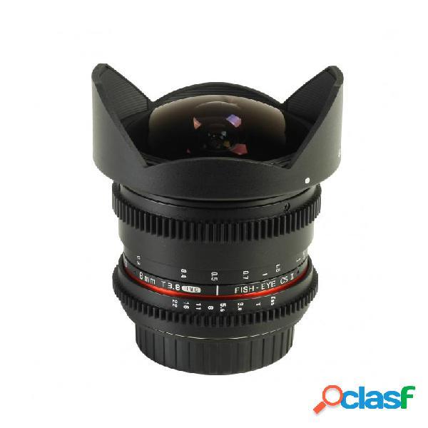 Samyang 8mm f3.5 fisheyes cs ii obiettivo per fujifilm x mount