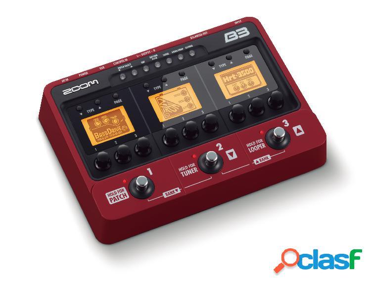 Zoom b3 effetti per basso di chitarra e simulatore di amplificatore