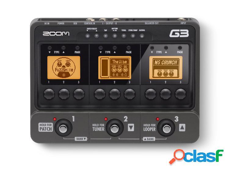 Zoom g3x effetti per chitarra e simulatore del amplificatore
