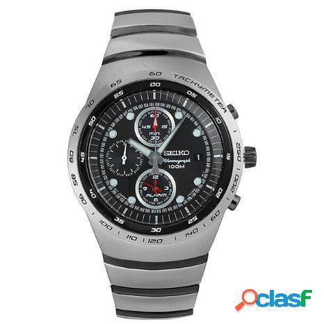 Seiko men s alarm chronograph 100m stainless steel orologio snaa85p...