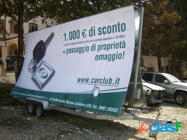 ALTRO ALFER Carrello Vela 6x3 Doppio Asse in vendita a Morano Calabro (Cosenza)