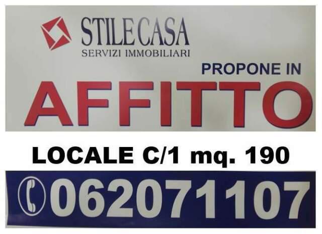 Affitto locale commerciale c/1 mq. 190
