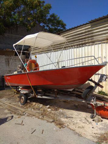 Barca vtr mt5 - johnson40hp 2t - ellebi carrello omologato -