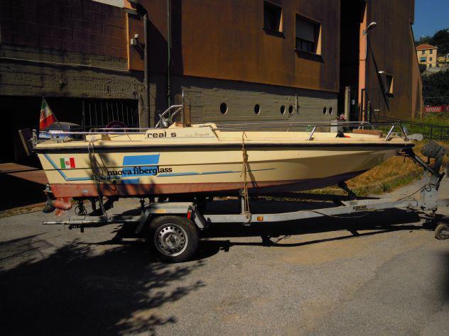 Barca a motore con carrello ellebi