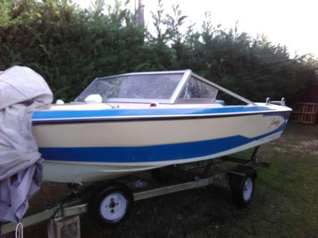 Barca+motore+carello