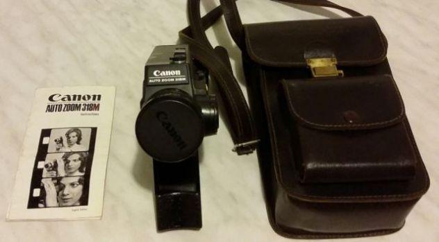 Cinepresa canon auto zoom 318m super8+custodia in