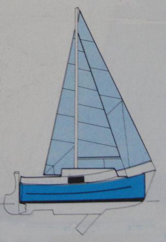 Cabinato carrellabile 6 metri in vetroresina a vela e motore