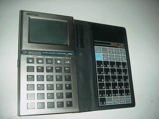 Calcolatrice elettronica vintage casio if8000 calcolatore