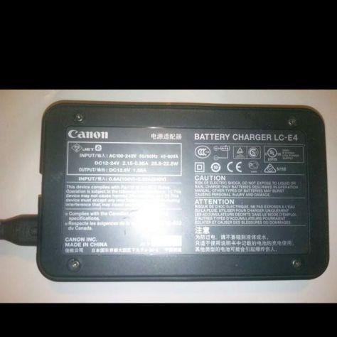 Canon lc-e4 caricabatteria per lp-e4 e4n 1ds 1d 1dx