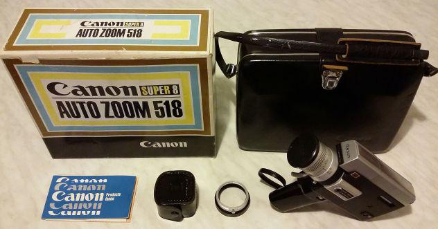 Cinepresa canon auto zoom 518 super8 custodia originale in