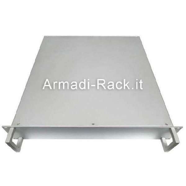 Contenitore a cassetto subrack 19'' 2u in alluminio