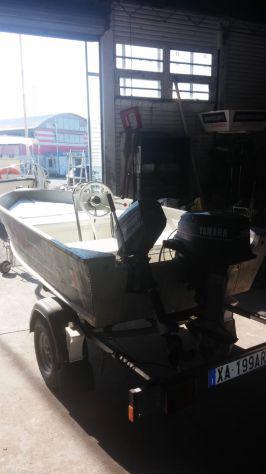 Italcantieri canadian 372 + carrello stradale + motori